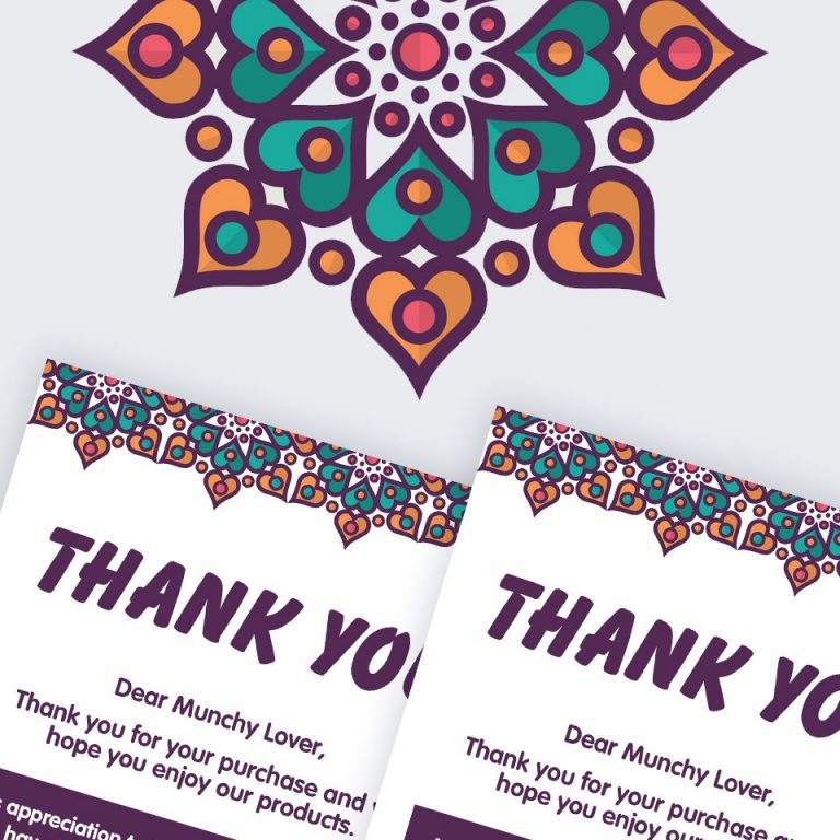 Thank You Card (A6 Size)